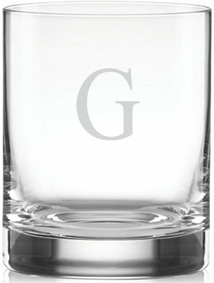 Lenox Tuscany Monogram Double Old Fashioned Glasses, Set of 4, Block Letters