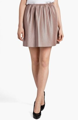 MSGM Pleated Faux Leather Skirt