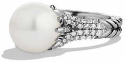 David Yurman Starburst Pearl Ring with Diamonds