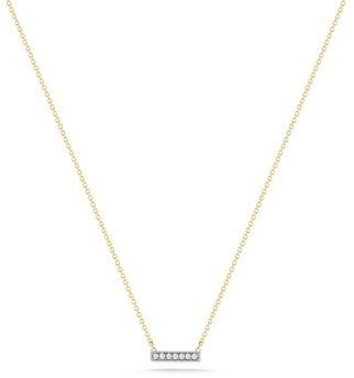 "Sylvie Dana Rebecca Rose"" Yellow Gold and Diamond Necklace 18-inch"
