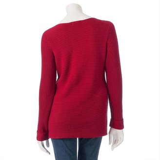 Croft & barrow ® ribbed sweater - women's