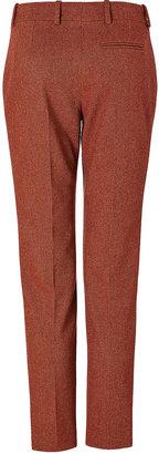 Sonia Rykiel Wool Pants in Ochre/Bordeaux