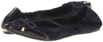 Burberry Ponyskin Brogue Ballerinas (Dark Ink Blue/Navy) - Footwear