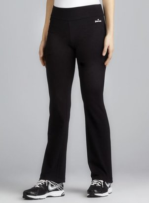 Spalding Black Slim Fit Straight Leg Stretch Performance Pant