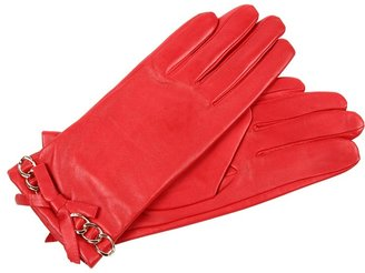 MICHAEL Michael Kors Michael Kors Leather Glove with Chain Bow