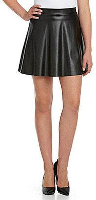 I.N. San Francisco Faux-Leather Swing Skirt