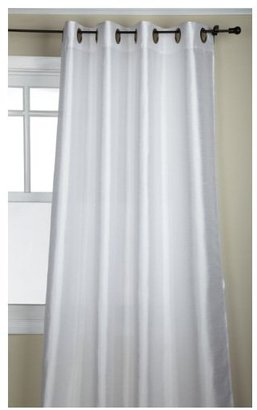 "Tribeca Stylemaster 56 x 108"" Faux Silk Grommet Panel, White"