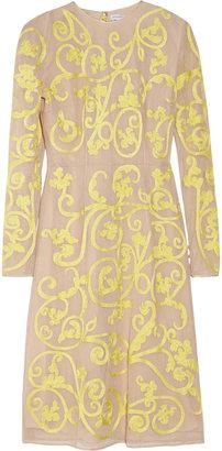 Jonathan Saunders Ariel embroidered cotton-mesh dress
