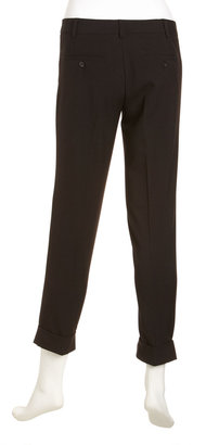 Laundry by Shelli Segal Narrow-Leg Cuffed Pants, Black