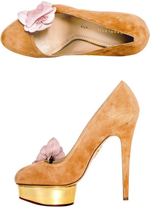 Charlotte Olympia Dolly orchid shoes