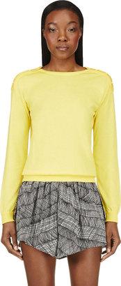 Christopher Kane Yellow Swarovski Crystal Button Sweater $840 thestylecure.com