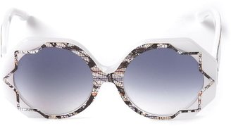Cutler & Gross 'Pinstripe Lace' patterned sunglasses