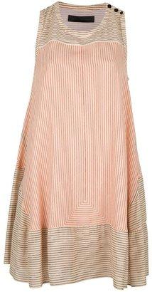 Proenza Schouler stripe print A-line dress