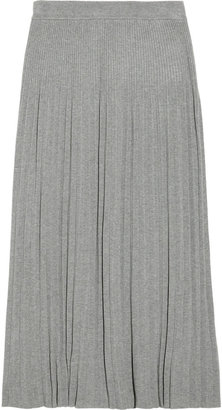 MICHAEL Michael Kors Pleated ribbed-knit skirt