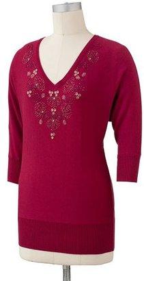 Lauren Conrad embellished sweater