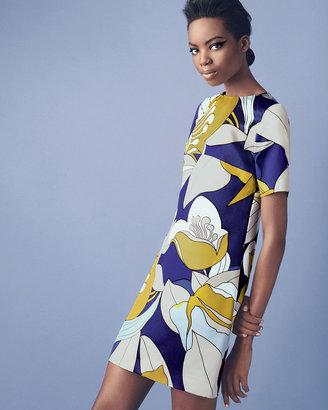 Marni Floral-Print Satin Dress