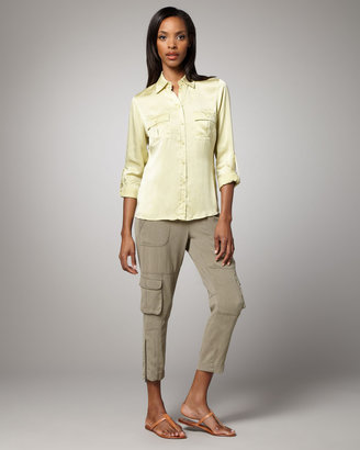 Go Silk Cropped Cargo Pants