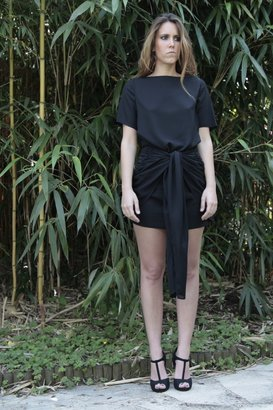 Carnet de Mode Dress - LUNE - black