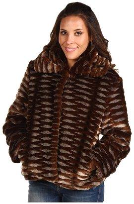Jones New York Faux-Fur Coat (Bronze Multi) - Apparel