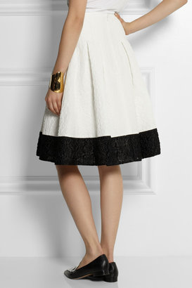 Erdem Halyn floral matelassé cotton-blend skirt