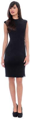 Kay Unger Sleeveless Sheath Dress with Belt