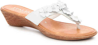 Women's Italian Shoemakers Giggle Wedge Sandal -White $59 thestylecure.com