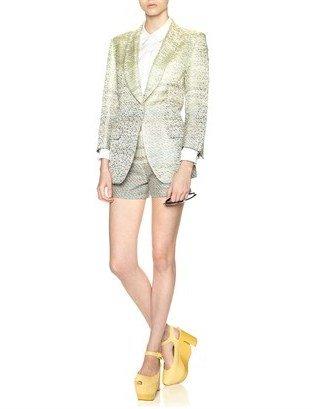 Calvin Klein Collection 100mm Citron Lizard Ray Wedges