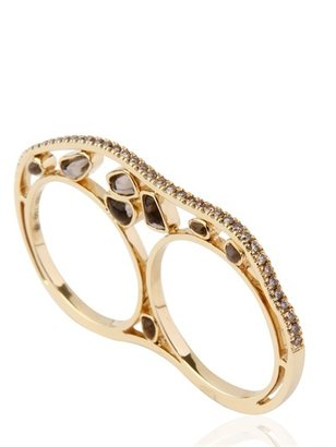 Nessa K.o. Gold And Diamonds Double Ring