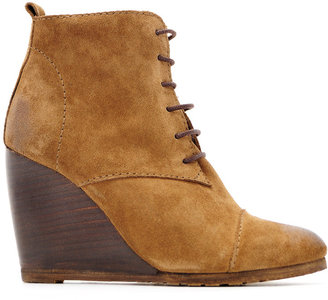 MANGO Leather lace-up ankle boot