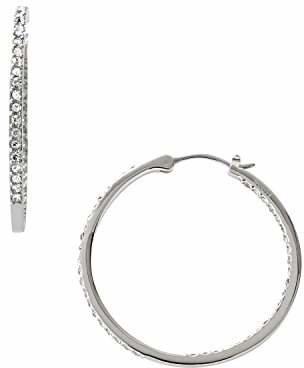 Fossil Glitz Silver Hoop Earrings