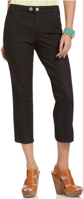 Style&Co. Jeans, Straight-Leg Capri, Rinse Wash
