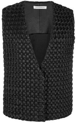 J.W.Anderson Black Leather Star Gilet