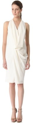Donna Karan Draped Cowl Dress