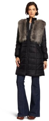 BCBGMAXAZRIA Women's Noel Woven Long Coat