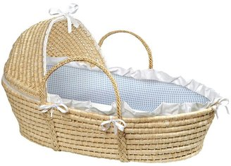 Badger Basket Hooded Gingham Moses Basket