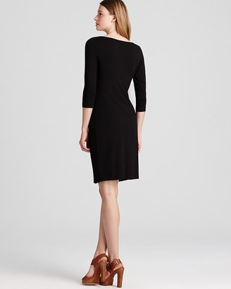 Karen Kane Shirred Three Quarter Sleeve Dress