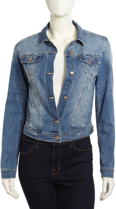 Velvet Heart Distressed Denim Jacket, Indigo Wash