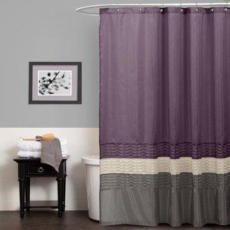 Lush Decor Mia Fabric Shower Curtain