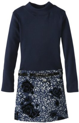 Bonnie Jean Girls 7-16 Denim Knit To Foil Print Skirt Dress