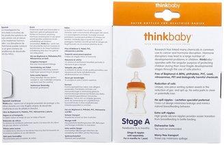Thinkbaby Vented Baby Bottles - Orange - 5 oz - 2 ct