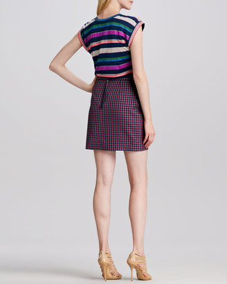 Marc by Marc Jacobs Clover-Check Pencil Skirt