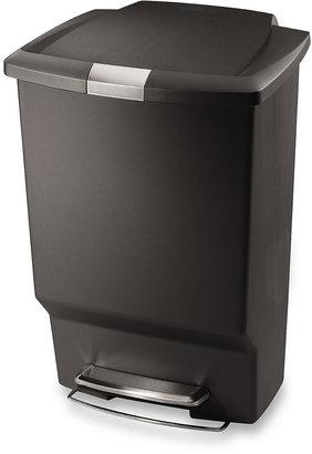 Simplehuman Plastic Rectangular 45-Liter Step-On Trash Can