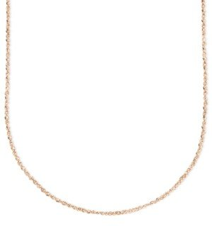 "Italian Gold 14k Rose Gold Necklace, 16"" Perfectina Chain (1-1/4mm)"