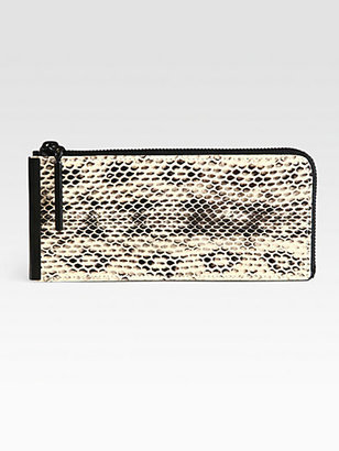 3.1 Phillip Lim Reptile-Embossed Leather Continental Wallet