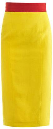 L'Wren Scott Grosgrain trim pencil skirt