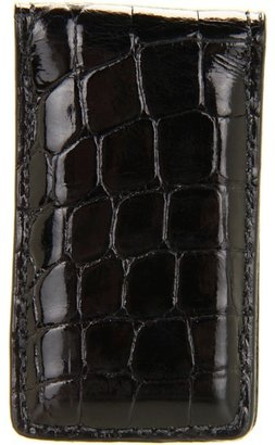 Torino Leather Co. Alligator Money Clip (Black) - Bags and Luggage