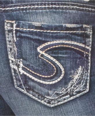 Silver Jeans Juniors Jeans, Aiko Bootcut, Dark Wash
