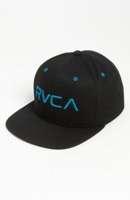 RVCA Snapback Baseball Cap Black/ Ocean Depth One Size