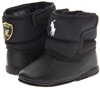 Ralph Lauren Vancouver EZ Crest (Infant) (Black Nylon) - Footwear