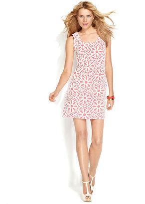 INC International Concepts Dress, Sleeveless Embroidered Shift